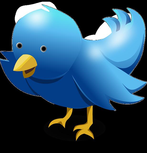 Blauwe Twitter-vogel